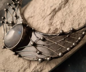 crescent moon, etsy, and moonnecklace image