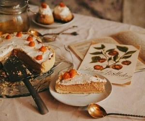 cake, food, and autumn image