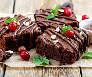 brownies, chocolate, and cocoa image