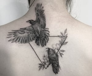 back, tattoo, and bird tattoo image