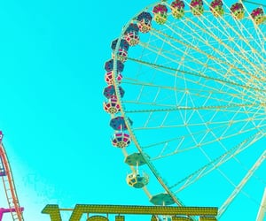 colors, ferris wheel, and amusements image