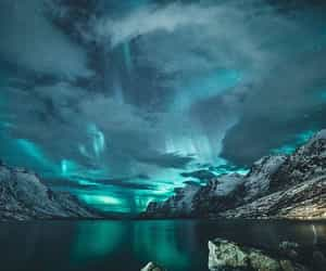 lights, norway, and nature image