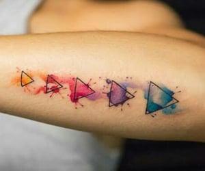 acuarela, colores, and Tattoos image