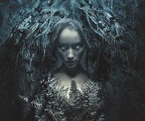 blue, dark, and fantasy image