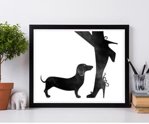 etsy, woman with dog, and dog lover gift image