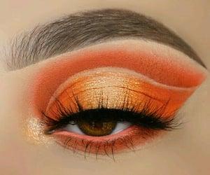 beauty, eyes makeup, and eyebrows image