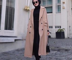 coat, hijab, and style image
