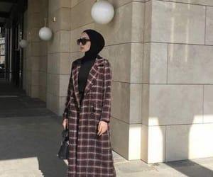 coat, style, and hijab image