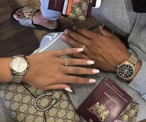 travel, couple, and gucci image