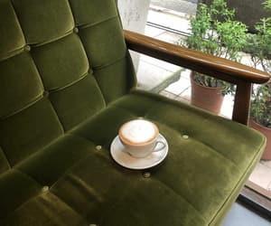 chair, coffee, and fashion image