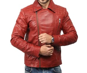 leather jacket, men leather jacket, and black leather jacket image