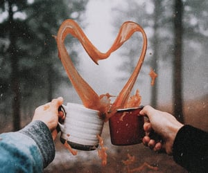 coffee, heart, and forest image