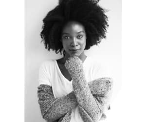 beauty, dark skin, and fro image