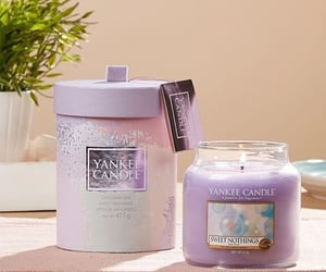 candle, purple, and scent image
