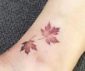 leaves, autumn, and tattoo image