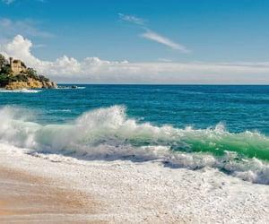 beach, beautiful, and blue image