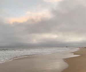 beach, clouds, and sky image