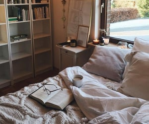 art, bedrooms, and books image