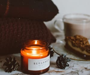 autumn, cafe, and candle image