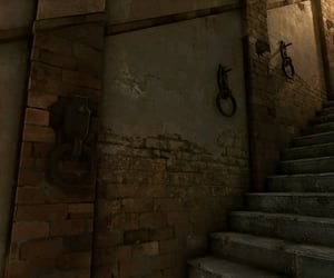 basement, stairs, and brick image