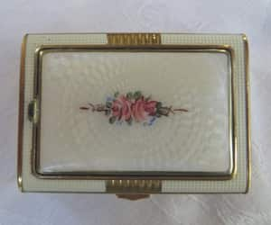 etsy, guilloche compact, and vintage vanity image