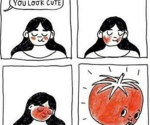 blushing and tomato image