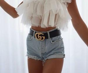 belt, clothes, and denim shorts image