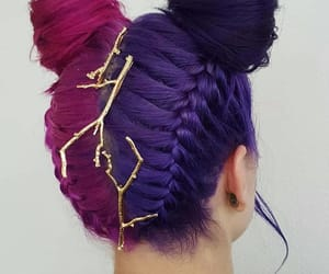 morado, rosa, and trenzas image