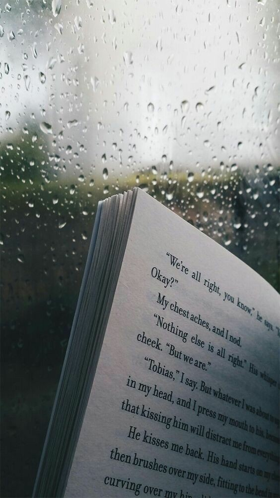 book and rain image