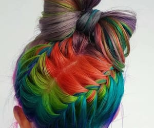 arcoiris, trenzas, and lazo image