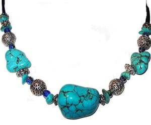 etsy, handmade necklace, and turquoise stones image