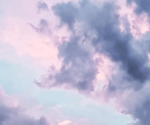 clouds, purple, and purple sky image