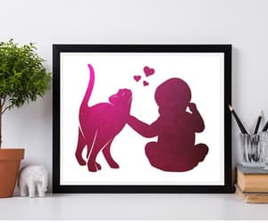 etsy, cat print, and watercolor painting image