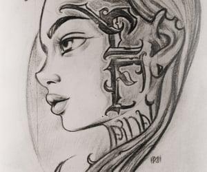 art, girl, and myart image