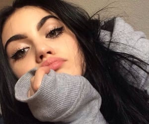 girl, makeup, and tumblr image
