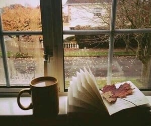 book, autumn, and coffee image