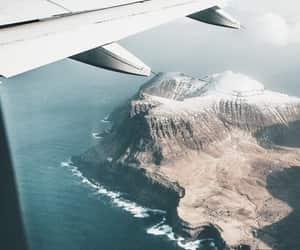travel, airplane, and sea image