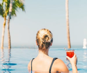 blonde, hotel, and Cocktails image