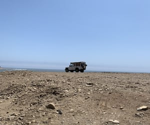 beach, jeep, and trip image