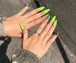chic, nails, and color image