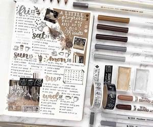 journal, girl, and writing image