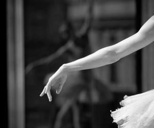 ballerina, black and white, and dance image