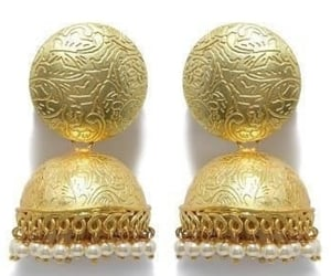 beautiful, earrings, and jhumki image
