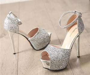 beautiful, silver heels, and dp image