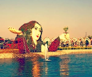 dubai miracle garden and flower lady sculpture image