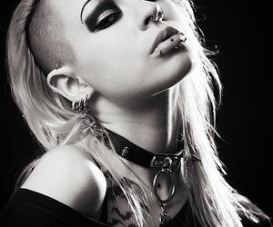 alternative, make up, and piercing image