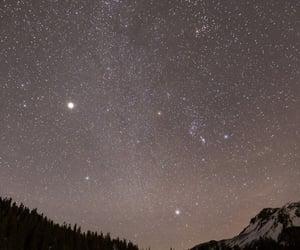 stars, snow, and sky image