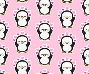 penguins, cute, and pink image