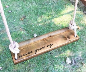 grow up, playground, and swing image