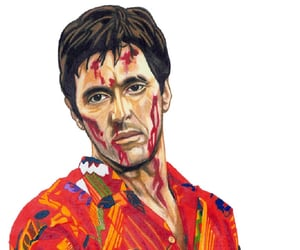 color pencils, fan art, and scarface image